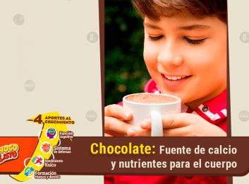 Con la ayuda del chocolate