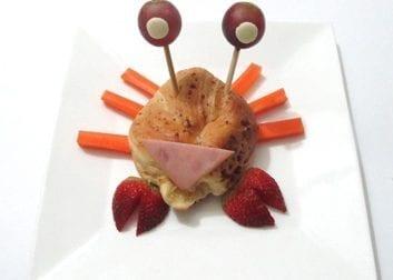 Receta cangrejo de desayuno con Chocolisto